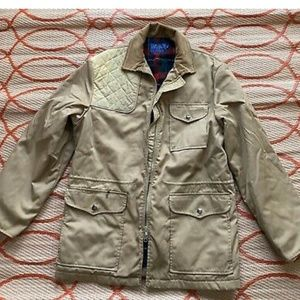 Vtg Pen West Pendleton Beige Harrington Bomber Jac